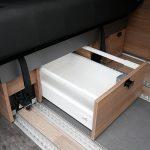 Mooveo Camper Van 3 Schubfach Sitzbank
