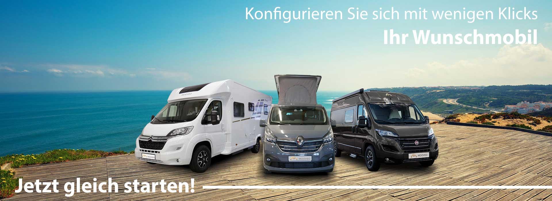 Wohnmobil neu - Mooveo Wohnmobile und Camper Vans neu kaufen
