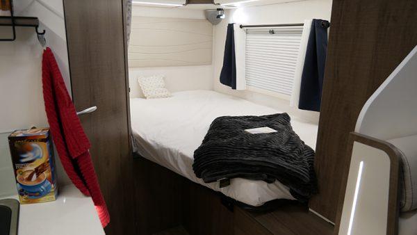 Wohnmobil Mooveo TEI-60FB Schlafbereich