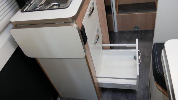 Wohnmobil kaufen neu Van-60EB Ansicht Küchenschublade 01